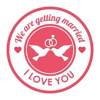 Carta di nozze carino