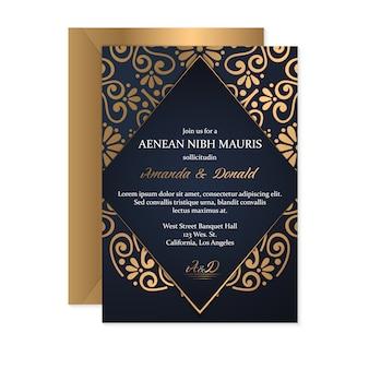Carta di nozze d'oro