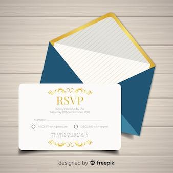 Carta di nozze rsvp
