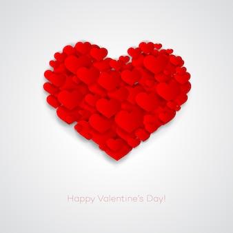 Carta di san valentino con il cuore