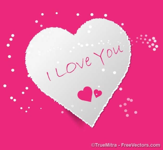 Carta di san valentino cuore - i love you