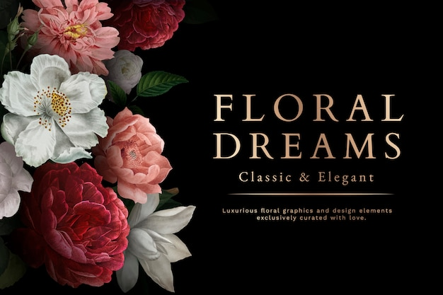 Carta di sogni floreali