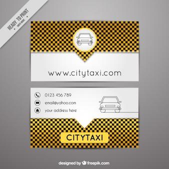 Carta di taxi moderna