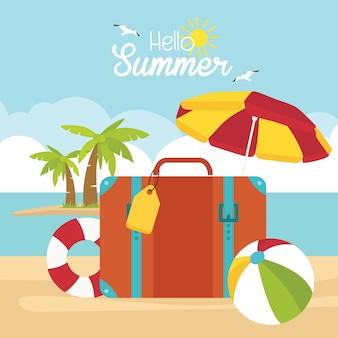 Carta di viaggio vacanza estiva