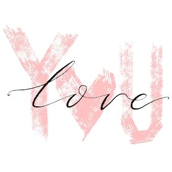 Carta disegnata a mano artistica creativa di giorno di biglietti di s. valentino.