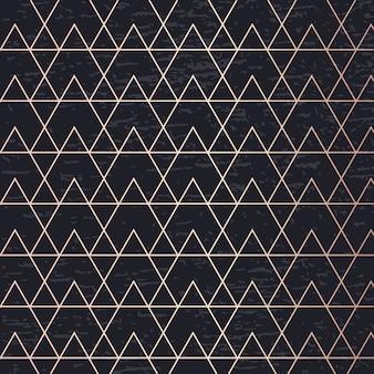 Carta dorata geometrica elegante della copertura del fondo di vettore di arte del modello