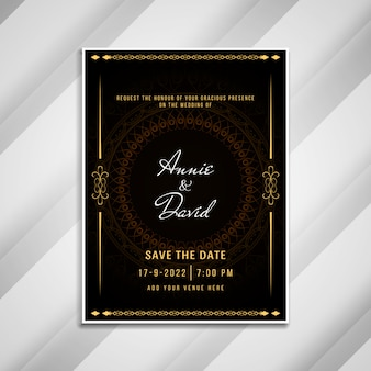Carta elegante di invito astratto di nozze