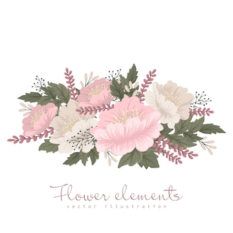 Carta fiore rosa chiaro clipart