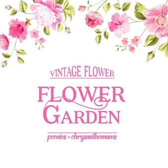 Carta floreale. giardino fiorito