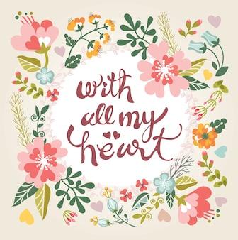 Carta floreale in colori estivi brillanti
