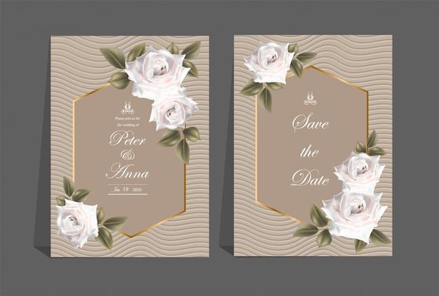 Carta floreale per nozze di invito e biglietti di auguri