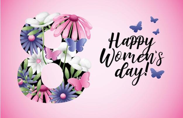 Carta giorno delle donne felici