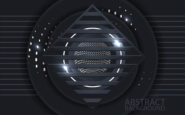 Carta grafica astratta 3d - vettore