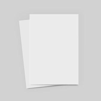 Carta in formato a4 con ombre