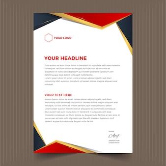 Carta intestata astratta elegante e affari moderni
