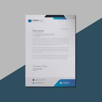 Carta intestata blu