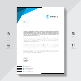 Carta intestata dell'azienda moderna