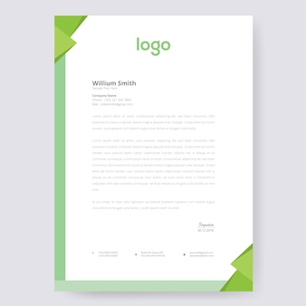 Carta intestata verde