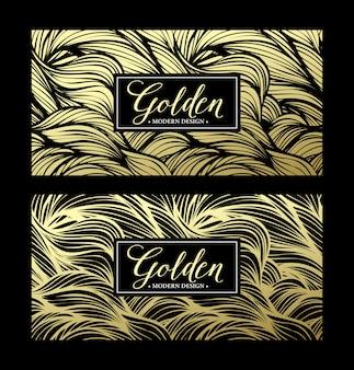 Carta moderna dorata di lusso