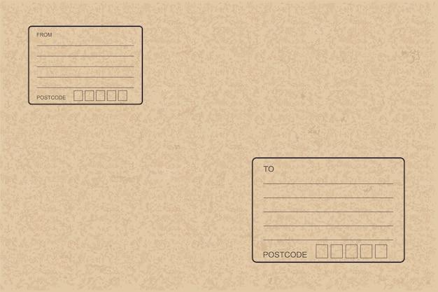 Carta pacchi marrone per sfondo indirizzo.