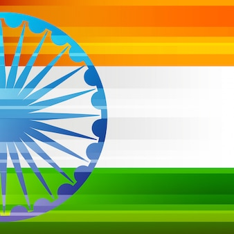 Carta patriottica di bandiera e ruota india patrioc