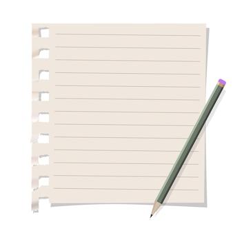 Carta per appunti con matita