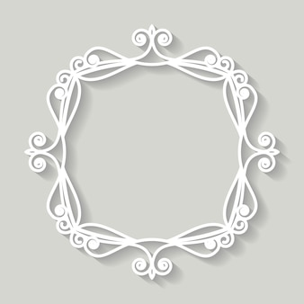Carta per cornice in filigrana ritagliata. design vintage barocco.