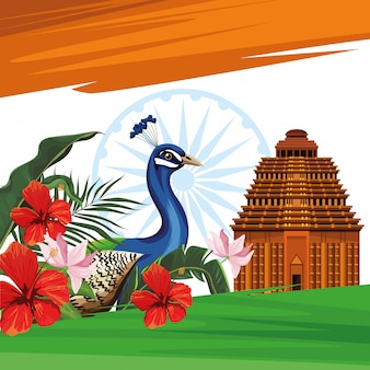 Carta per viaggi e turismo in india