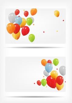 Carta regalo con illustrazione di palloncini