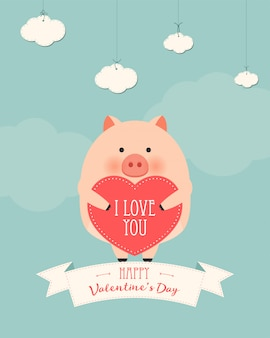 Carta regalo romantico di san valentino