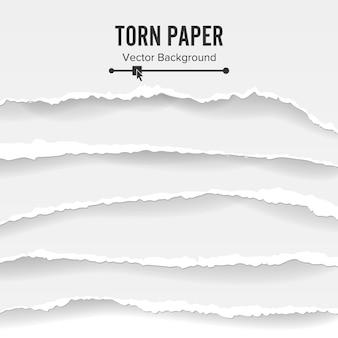 Carta strappata sfondo bianco