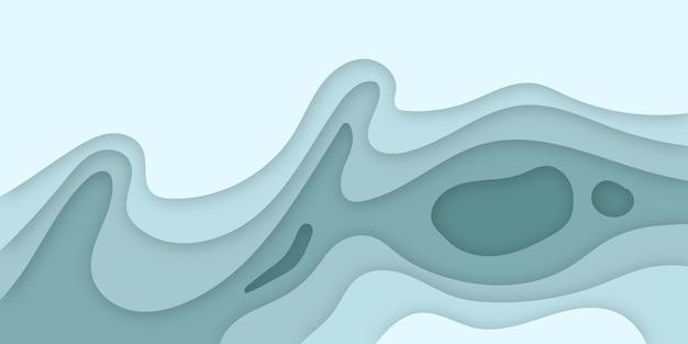 Carta tagliata sfondo 3d