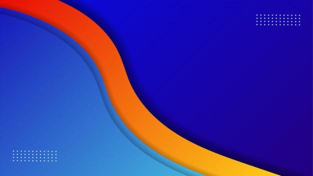Carta tagliata sfondo con strati sovrapposti, carta da parati blu,