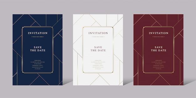 Carta vettoriale di invito lusso vintage