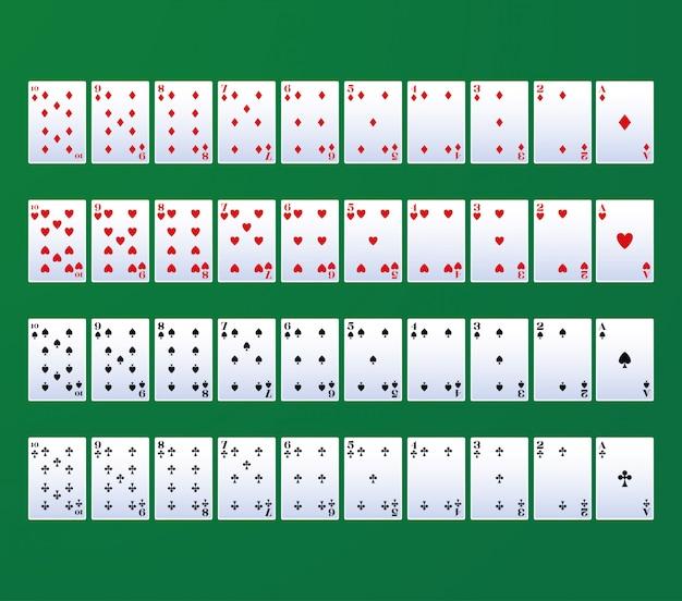 Carte da gioco per il poker