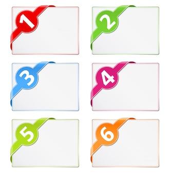 Carte di carta con nastri d'angolo