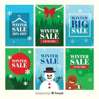 Carte di vendita inverno