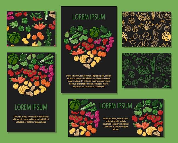Carte di verdure
