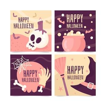 Carte disegnate per l'evento di halloween