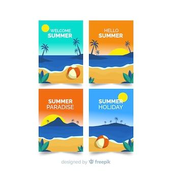 Carte estive piatte