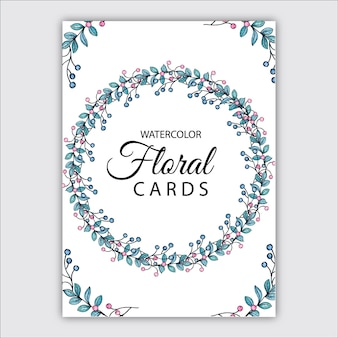 Carte floreali dell'acquerello