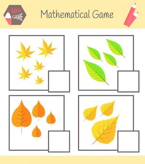 Cartella di lavoro sulla matematica per l'educazione prescolare