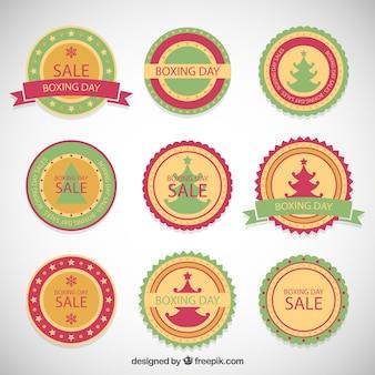 Cartellini di vendite di natale