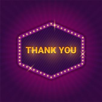 Cartello con testo di ringraziamento
