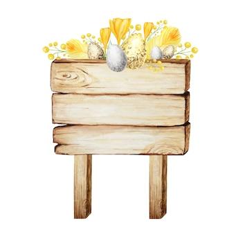 Cartello in legno illustrazione