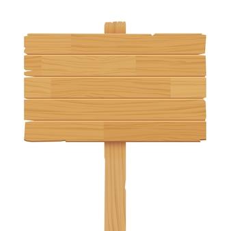 Cartello in legno su sfondo bianco