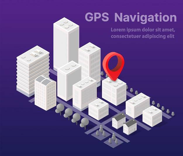 Cartografia urbana di mappe isometriche della città