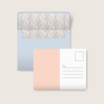 Cartolina beige e bianca