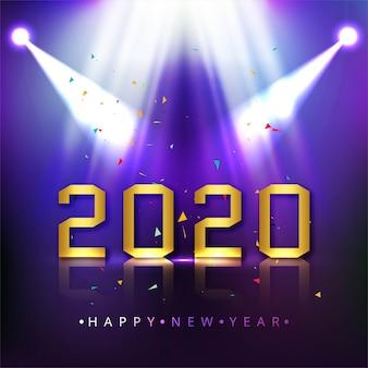 Cartolina d'auguri astratta di nuovo anno 2020