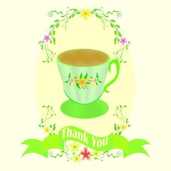 Cartolina d'auguri con la tazza